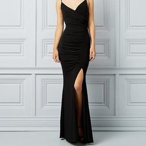 NWT Le Chateau Black Fit & Flare Gown XXL